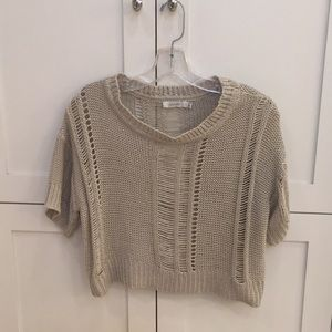 Millau Cropped Cream Sweater